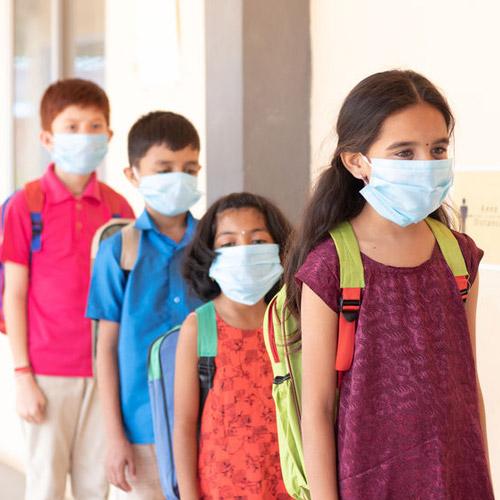 Einwegmundschutz für Kinder