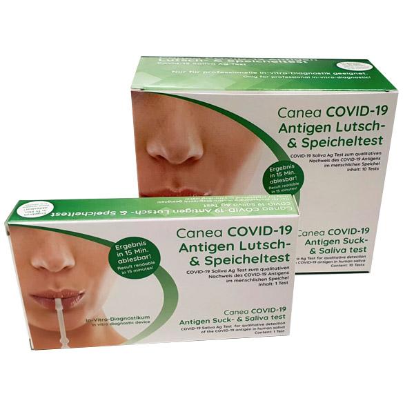CANEA COVID-19 SARS-COV-2 Antigen Lutsch- & Speicheltest